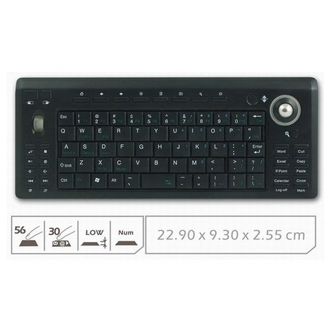 Wireless Mini Keyboard with Trackball Preview 1