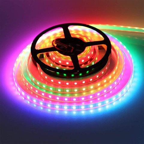 RGB LED Strip SMD5050, WS2815 (with controls, black, IP20, 12 V, 60 LEDs/m, 5 m) Preview 3